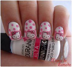hello kitty nail art nail design nail idea
