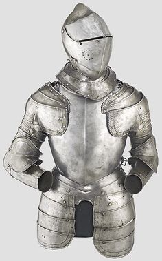 Horse Armour 2: Curuassier (heavy 1/2 to 3/4) with a close helmet & back sword, axe or mace; Carabiner (a light version) armed with pistol or aquebuse. Commonly Blued, rusted or black varnished (Black & White german styled).