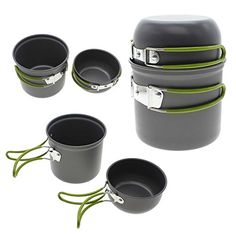 MMRM Durable Cooking Picnic Bowl Pot Pan Set Outdoor Backpacking Camping Equipment ** Find out more about the great product at the image link.(This is an Amazon affiliate link and I receive a commission for the sales)