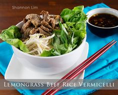 Grilled Lemongrass Beef - tangy delicacy seared beef & fragrant with smoky char from the grill, into 3 signature Vietnamese dishes.