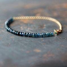 Ocean Sapphire Ombre Bracelet Beaded Gemstone Premium Gems Blue Teal Green Handmade Jewelry by ShopClementine on Etsy https://www.etsy.com/listing/121918572/ocean-sapphire-ombre-bracelet-beaded