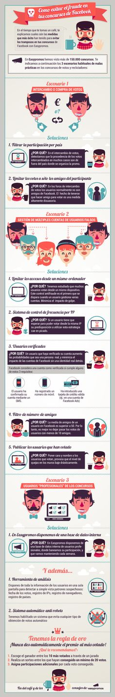 Infografia como evitar el fraude en concursos de Facebook