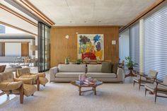 Casa da Mata by Leo Romano Mix Concrete, Sala Grande, Condominium, The Expanse, Brazil, Facade, Leo, Patio, Living Room