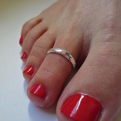 Sterling Silver Toe Ring, Midi Ring Above the Knuckle Ring Thin Ring Diamond Cut Toe Ring Anillo para los dedos de los pies