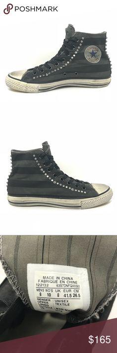 f0b9773fc21fda DEADSTOCK Converse x John Varvatos Studded Hi Top Super sick NEW Hi Tops in  black and