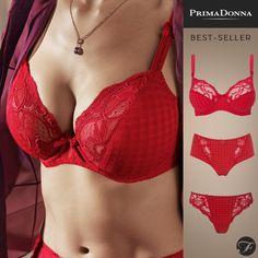SOLDES +  Nouveauté rouge 💋  passion 😍 MADISON Scarlet 💖💖💖  lingerie   PrimaDonna chez  Fitancy fc4c3d6e3d0