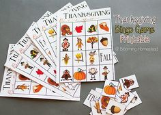 Blooming Homestead: Thanksgiving Bingo Game Printable