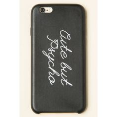 Cute But Psycho iPhone 6 Case ($10) ❤ liked on Polyvore featuring accessories, tech accessories, phone cases, phone, white iphone case, black iphone case, iphone case, apple iphone cases and iphone cover case