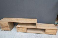 Teakhuys teakmeubelen - tv meubelen - tv meubel flex 170 - 300 grey wash