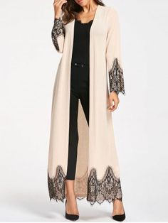 Womens Fashion Tops Outerwear Casual Coats Fashion Long Wool Coat Eyelash Lace Trim Longline Outwear - - Womens Fashion Tops Outerwear Casual Coats Fashion Long Wool Coat Eyelash Lace Trim Longline Outwear Source by Abaya Fashion, Modest Fashion, Fashion Outfits, Womens Fashion, Fashion Trends, 20s Fashion, Mode Abaya, Mode Hijab, Stylish Clothes