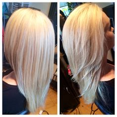 To a Amazing icy blonde with some low lights to break it up! #hair#kayshairr