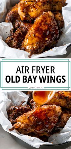 Air fryer chicken wings are everything, but Honey Old Bay Wings made in the Air Fryer are everything and more! Best part—they're ready in 25 minutes! Honey Old Bay Wings Recipe, Old Bay Chicken Wings Recipe, Air Fryer Recipes Chicken Wings, Chicken Wing Marinade, Air Fry Chicken Wings, Air Fryer Oven Recipes, Air Fryer Dinner Recipes, Grilled Chicken Recipes, Chicken Wing Recipes