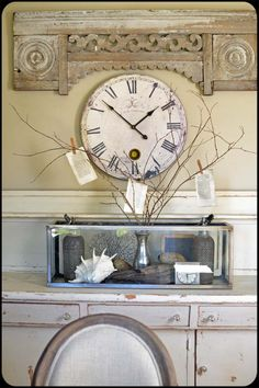 love the accent old molding above the clock