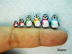Teeny nitted pengies! I think I just died of cuteness!