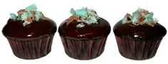 Mini cupcakes, dark and minty, the perfect after dinner mint experience.