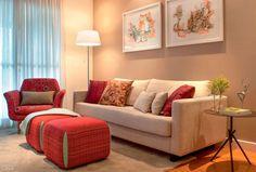 Monte uma sala de estar por menos de R$ 2500. Foto da revista MINHA CASA.