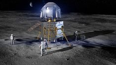 Boeing delivered a proposal to NASA for a crewed lunar lander to fly astronauts to the moon in 2024 as part of the agency's Artemis program. Cosmos, Apollo Spacecraft, Space Launch System, Lunar Lander, Spacex Launch, Planetary Science, Moon Landing, Space Exploration, Artemis