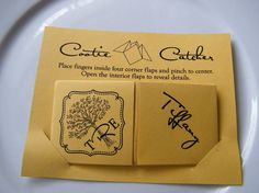 Cootie Catchers Origami Wedding Invitations / Save от katskrafts