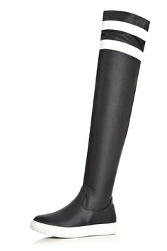 WeenFashion Women's Zipper Round Closed Toe Blend Materials PU Above-the-knee Boots -- Read more  at the image link.