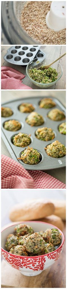 Broccoli parmesan meatballs. Veggie meatballs made with broccoli and healthy ingredients.