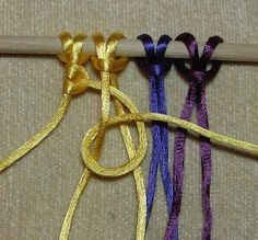 12 Basic Macramé Knots Tutorials (steps with pictures)