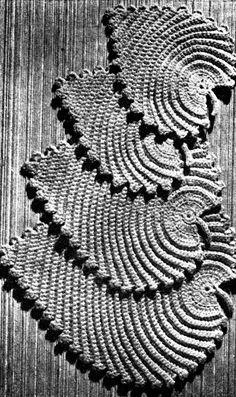 Vintage Leaf mats potholder Crochet pattern PDF 1950s.