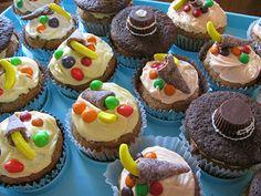 Pumpkin Muffin/Cupcakes Pilgrim Hats and Cornucopias