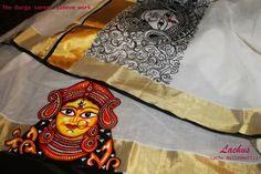 The durga saree- sleeve work