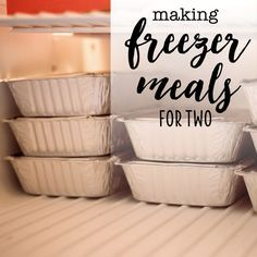 Making Freezer Meals for Two - Tips and Tricks - Making . Making Freezer Meals for Two – Tips and Tricks – Making Freezer Meals f Budget Freezer Meals, Make Ahead Freezer Meals, Crock Pot Freezer, Freezer Cooking, Individual Freezer Meals, Freezer Recipes, Frugal Meals, Crockpot Meals, Budget Dinners