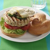 Basil Turkey Burgers with Grilled Vegetables