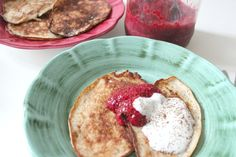 """""""By now you have probably heard about banana pancakes, and there is a good reason for it – they are so simple to make, healthy and, most importantly, they taste delicious. These are perfect to treat. Banana Pancakes, Yummy Treats, Breakfast, Simple, Healthy, Food, Morning Coffee, Plantain Pancakes, Essen"""