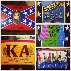 Cooler my roommate and I painted for her Kappa Alpha boyfriend! Turned out so good!!! :)