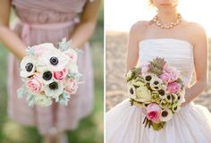 Anemone Bouquet Inspiration on The Lovely Find