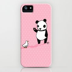 日本未発売★Society6 iphoneケース Little Panda and Toy Duck