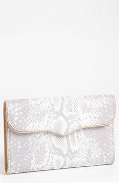 Rebecca Minkoff Python Print Flap Wallet