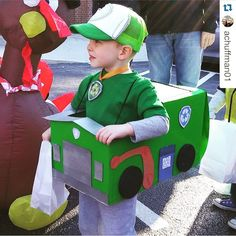 We think his Rocky costume is PAWtastic! Be sure to tag us with you PAWsome pup costumes for a chance to be featured on our page! Paw Patrol Rocky, Rocky Paw Patrol Costume, Paw Patrol Halloween Costume, Family Halloween Costumes, Halloween Kostüm, Halloween Costumes For Kids, Paw Patrol Party, Paw Patrol Birthday, Boy Birthday