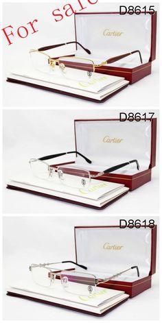 b8d50851758 Cartier Half Rim Tan Sunglasses Wood Frame