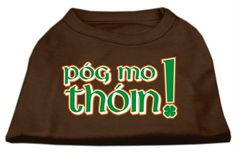Mirage Pet Products 16-Inch Pog Mo Thoin Screen Print Shirt for Pets, X-Large, Brown *** Click image to review more details. (This is an affiliate link and I receive a commission for the sales)
