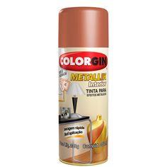 Tinta Spray Colorgin Metallik 350 ml Cobre - 054 - CasaDaArte