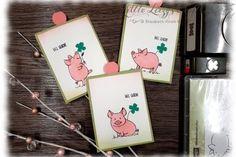 Kleine Handtaschen für Mini Lebkuchen mit DSP Weihnachtsfreuden Diy Paper, Paper Crafts, Stampin Up Anleitung, This Little Piggy, Heartfelt Creations, Stamping Up, Craft Supplies, Mini, Create