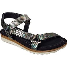 44da93124581 Loving this Skechers Black Moon Shadows Leather Sandal - Women on  zulily!   zulilyfinds