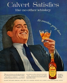 "Calvert whiskey 1955 - ""It's smoother going down""  #ad #alcohol"
