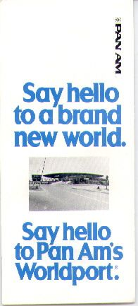 1980s Cover of a brochure promoting Pan Am's New York City WorldPort Terminal.