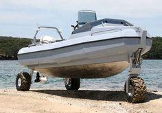Обзор лодки на колесах