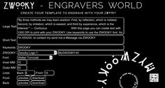Join ZWOOKY and use the engravers world tool to create easy text to engrave it on pi-discs. It works great with jade, obisidian and much more.