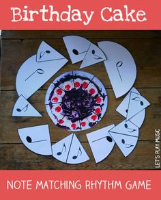 This Birthday Cake Music Note Matching Game is a quick and easy way to explain note values to young children.