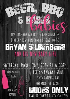 Diaper party invitation couples baby shower invitation beer and mens only baby shower invitation beer bbq by simplykayleedesigns filmwisefo