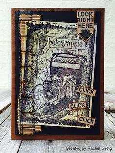 Card by Rachel Greig using Darkroom Door Photographie Collage Stamp