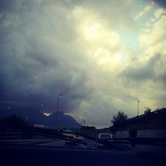 Instagram shot # | the cloudy skyline looked so tumultuous this day. Just HAD to capture the moment. Most Beautiful Cities, Gaia, Cape Town, Airplane View, Skyline, Clouds, In This Moment, World, City