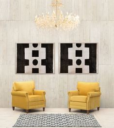 Black and White Contemporary Living Room Wall Art
